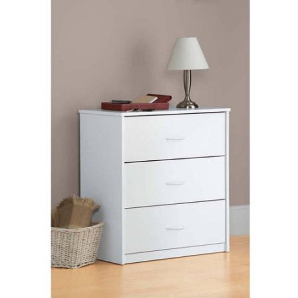 Mainstays 3-Drawer Dresser 3 easy-glide drawers (White) by Mainstay* (Image #2)