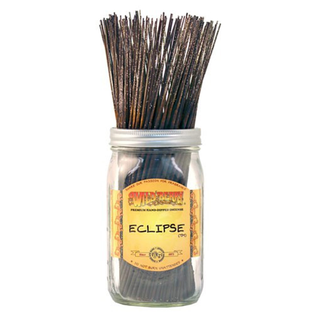 WILDBERRY Eclipse, Highly Fragranced Incense Sticks Bulk Pack, 100 Pieces, 11-inch
