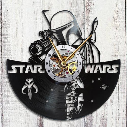 Star Wars Clock Boba Fett Vinyl Record Wall Clock ()
