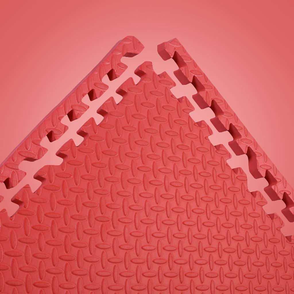 LFY Kinder Puzzle Spielmatte Volltonfarbe, Dicke Schaumkrabbelmatte (Farbe   Grün, größe   4 Piece) Rot 12 piece