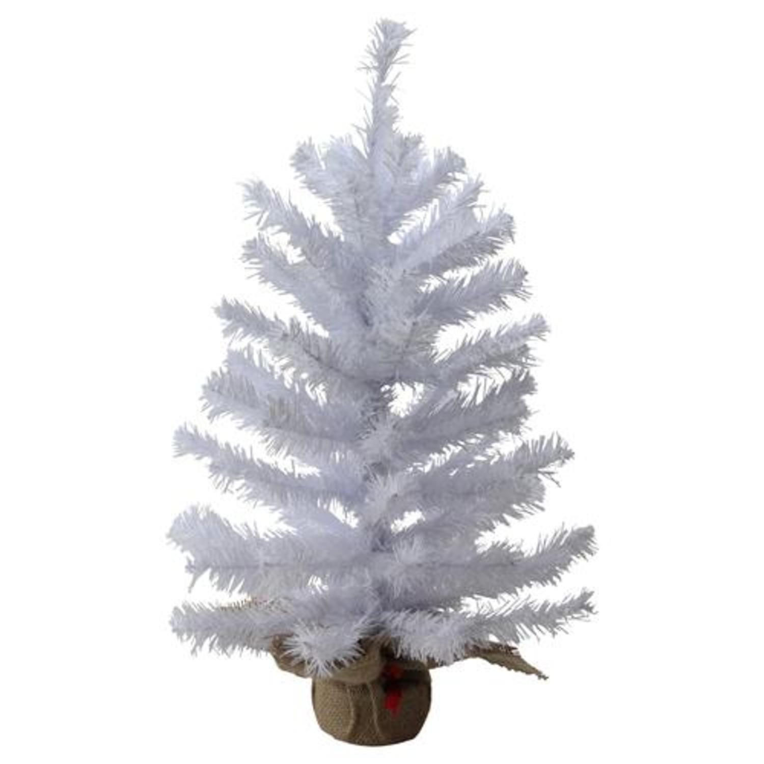 Amazon.com: 2\' White Canadian Pine Artificial Christmas Tree with ...