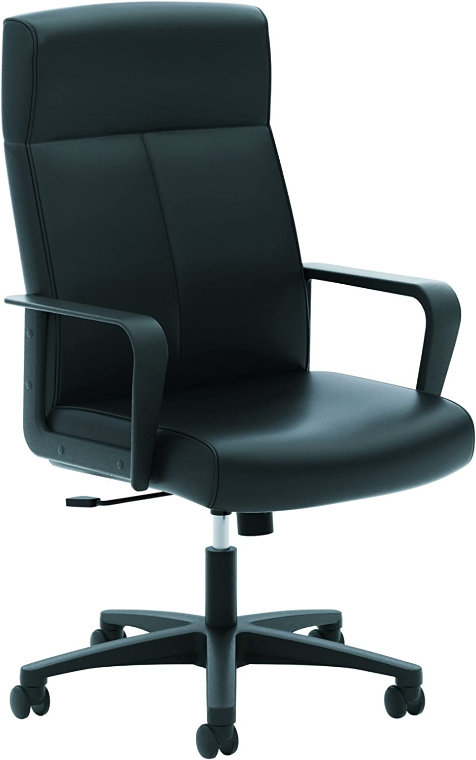 HON Validate Leather Executive Chair - High Back Armed Office Chair for Computer Desk, Black (HVL604)