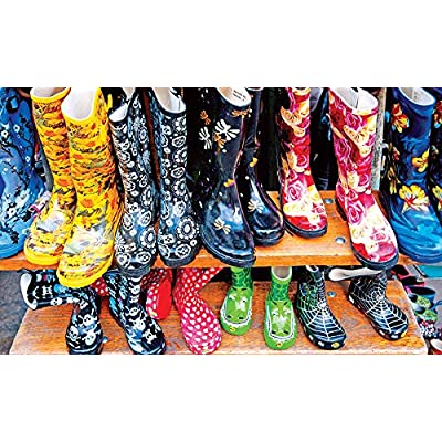 Cute & Colorful Rubber Boots 300 Piece Colorluxe Premium Jigsaw Puzzle: Toys & Games