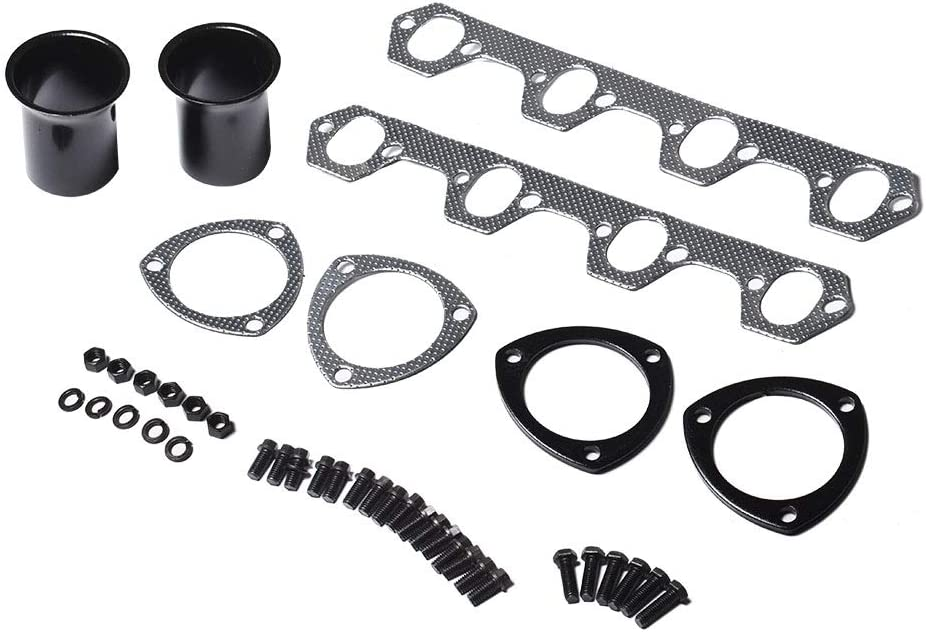 WFLNHB Exhaust Manifold Header Replacement for 1969-1979 Ford F100 5.0L V8 Engine 302 RWD