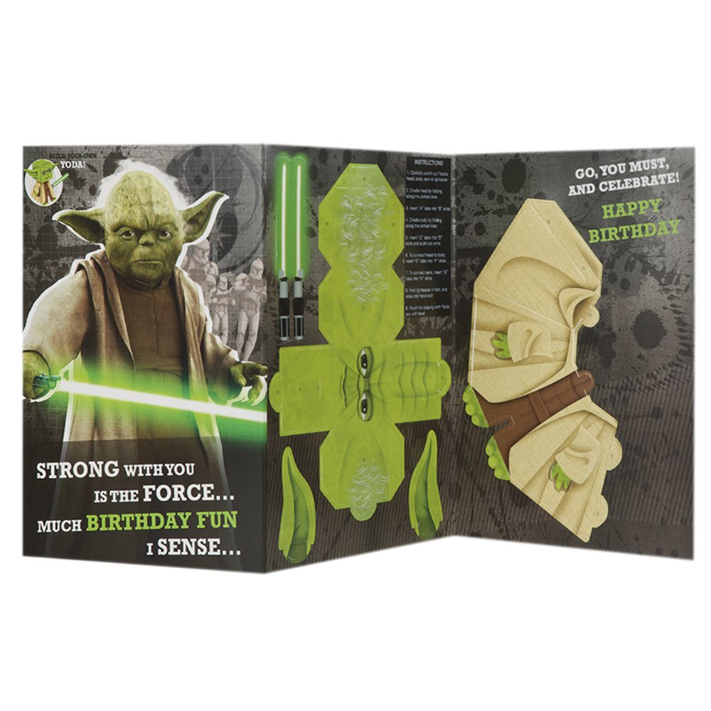 Amazon Star Wars Build Your Own Yoda Birthday Card By