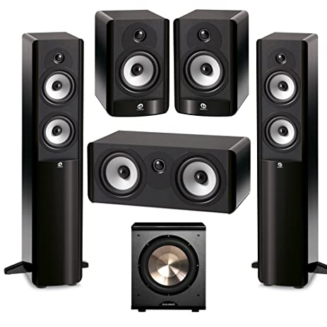 Boston Acoustics 51 System With 2 A250 Floorstanding Speakers 1 A225C Center Channel Speaker