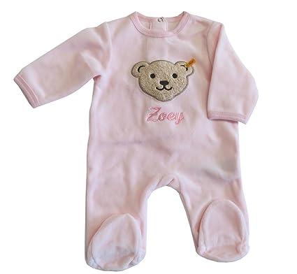 steiff unisex baby strampler gestreift 0006605 gr 68 rosa 2560 vos. Black Bedroom Furniture Sets. Home Design Ideas