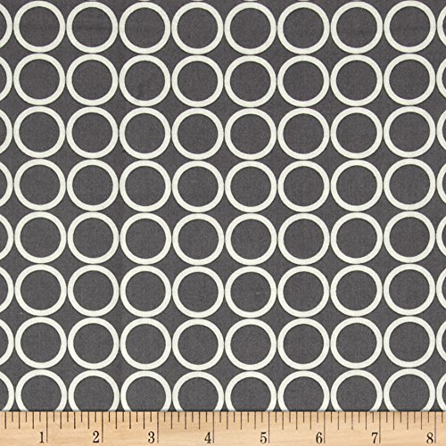 (Robert Kaufman Metro Living Circles Pewter Fabric by The Yard)