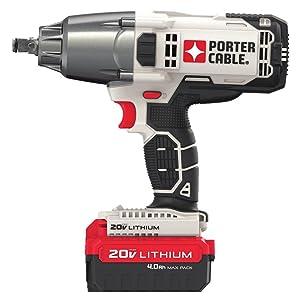 "PORTER-CABLE PCC740LA 1/2"" Cordless Impact Wrench,"