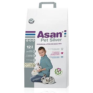 Asan AG+ 100% Arena Natural y Cama de Paja para Conejos, Liebres y Hurones