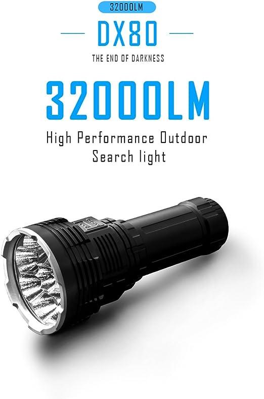 IMALENT DX80 Lot de 8 LED CREE XHP70 2/ème g/én/ération 3 000 lm Lumi/ère clignotante puissante pour la mise au point et la nuit