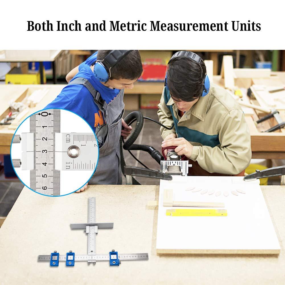 Caja Taladro Perforado de 5 mm 2 Combinaciones para una Venta IsEasy Mercanc/ías en Paquete Regla de posicionamiento de Perforaciones aleaci/ón