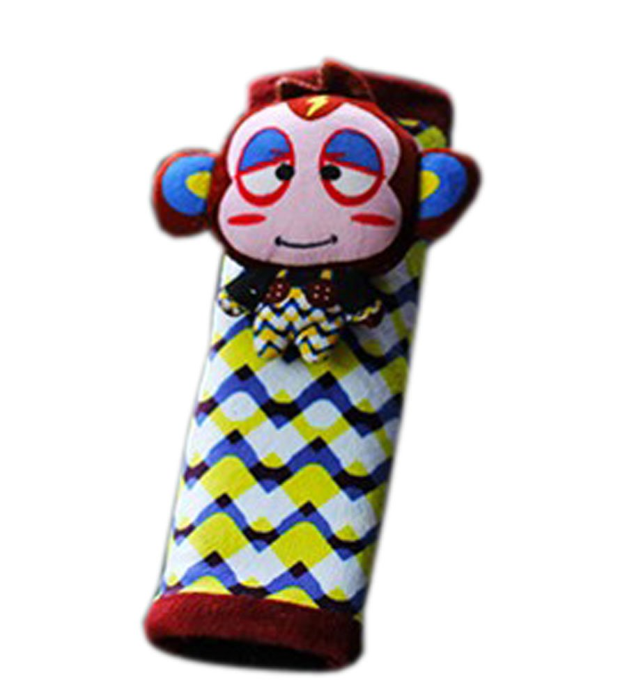 Creative Safe Car Soft Seat Belt Strap Cover, Lovely Catoon Monkey, Brown Panda Superstore
