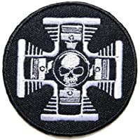 V Twin Skull Ghost Logo Motorcycles Biker Lady Rider Hippie Punk Rock Heavy Metal Tatoo Jacket T-shirt Patch Sew Iron on Embroidered Sign Badge