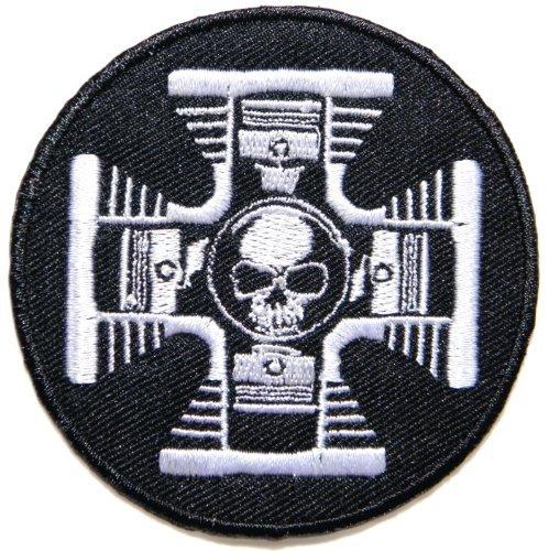 v twin skull ghost logo