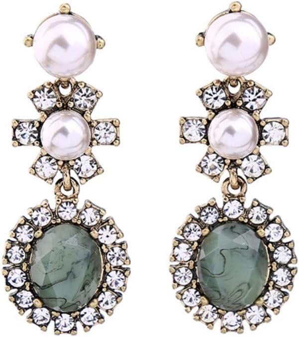 NECKLACEXSJ Pendientes, Accesorios De Nueva Tendencia, Diamantes De Mujer, Piedras Preciosas De Cristal De Perla, Pendientes, Pendientes.
