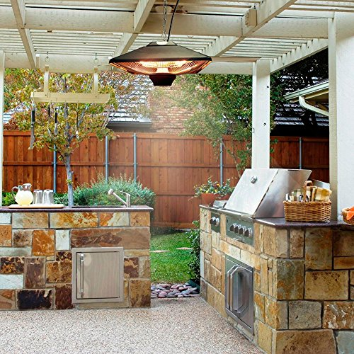 Hanging Infrared Electric Outdoor Heater with LED and Remote