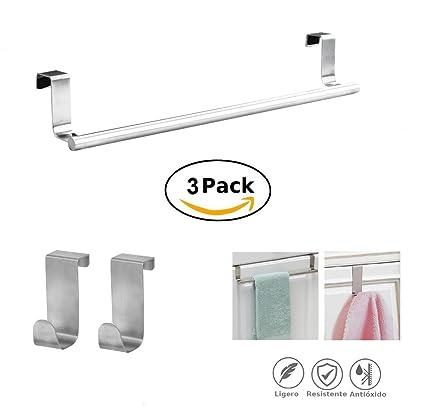Storky Toallero Colgante sin taladro ideal para paños de cocina o toallas de baño - se