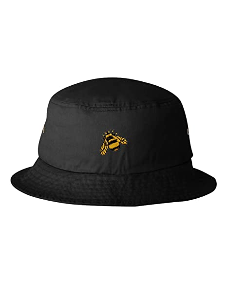 243fda6804941 Go All Out One Size Black Adult Bumble Bee Embroidered Bucket Cap Dad Hat