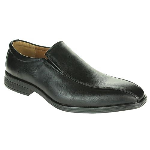 Hombre Caballeros Ponerse Mocasines Formal Ata para Arriba Oficina Trabajo Noche Moda Fiesta Boda Zapatos Talla: Amazon.es: Zapatos y complementos