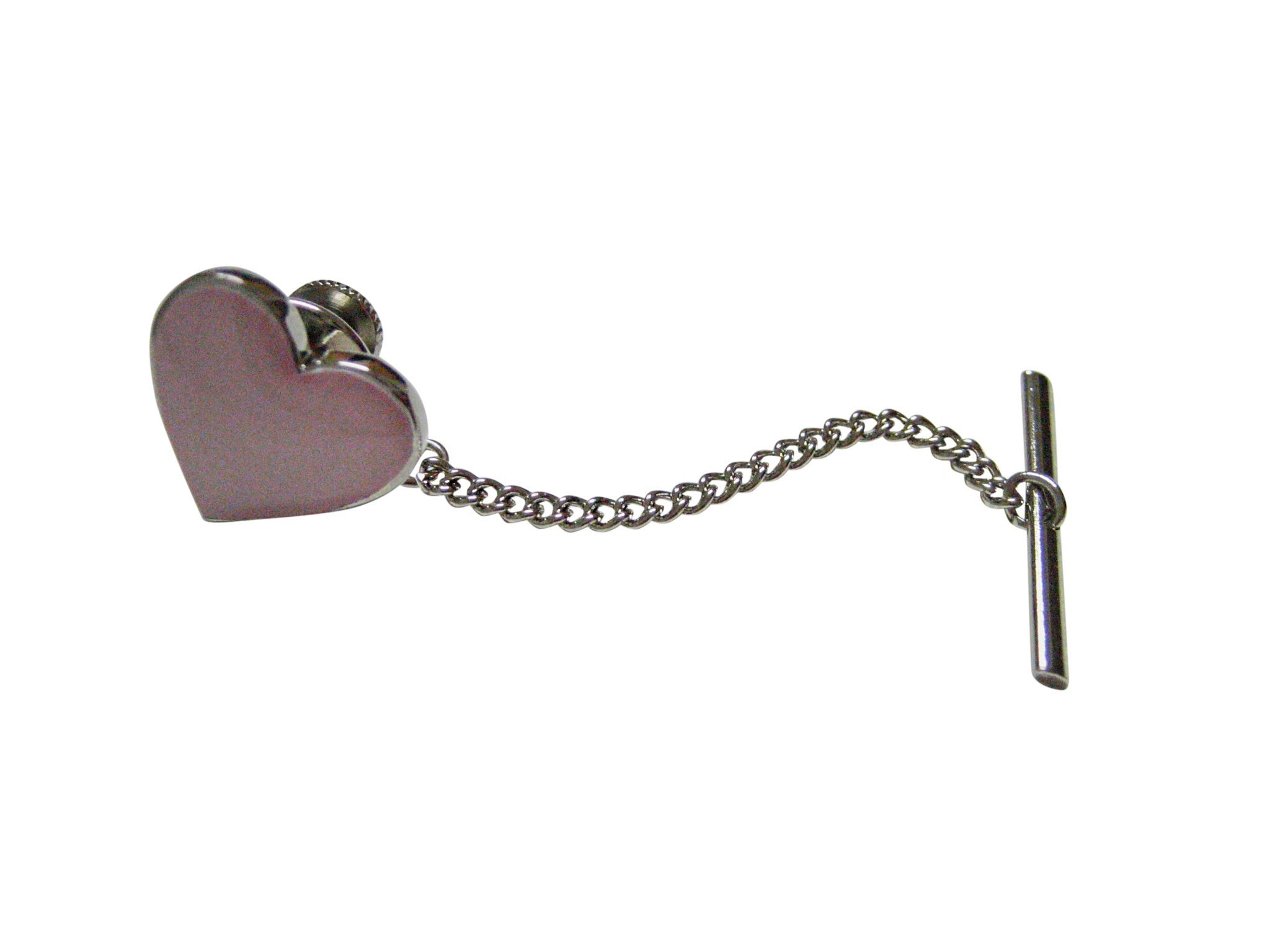 Pink Toned Heart Love Tie Tack