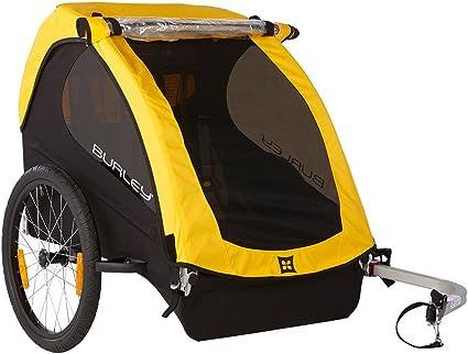 Burley Fahrrad Kinder Anhanger Bee Gelb Faltbar 2 Sitzer Flex