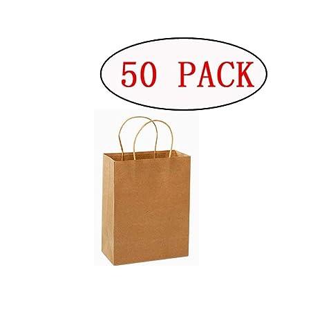 Bolsas de papel kraft para la compra, 50 unidades, bolsas ...