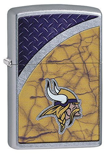 Zippo NFL Minnesota Vikings Street Chrome Pocket Lighter