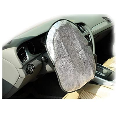 Forala Steering Wheel Cover Universal Fit UV Proof Sun Shade (Rocket) (Silver): Automotive