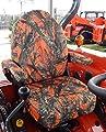 Durafit Seat Covers, KU06 Orange Kubota Seat Covers for tractor L3240, L3940, L4240, L5040, L5240, L5740in MC2 Camo Endura.