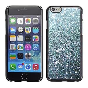 Be Good Phone Accessory // Dura Cáscara cubierta Protectora Caso Carcasa Funda de Protección para Apple Iphone 6 // glitter silver sparkling bling platinum