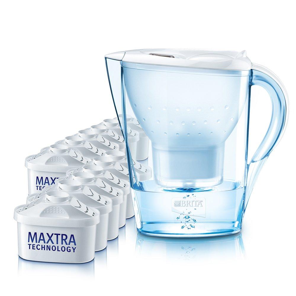 Brita Wasserfilter Marella Cool weiß, Jahrespaket: Amazon.de: Küche ...