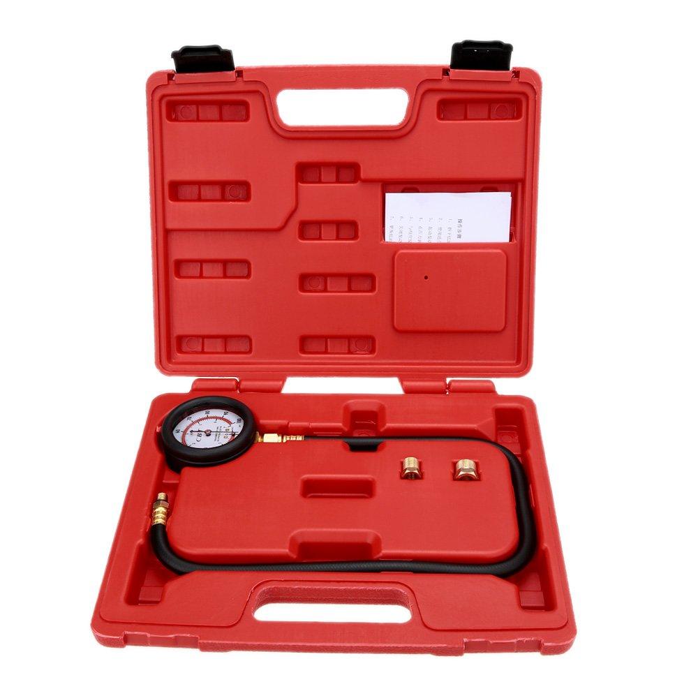 KKmoon Engine Oil Pressure Tester Pressure Gauge Test Tool Kit 0-100psi