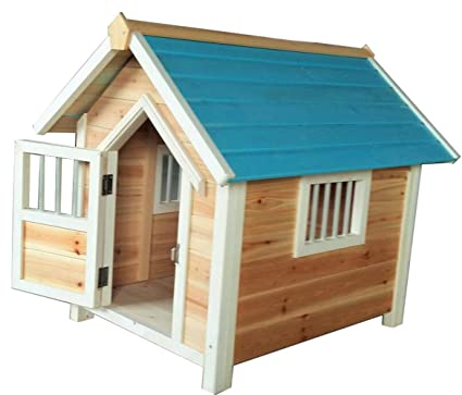 Amazon.com: YAMEIJIA - Caseta de madera maciza para perro ...