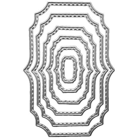 WorldKey Scrapbook Bricolaje Metal Stencil Cuchillo Molde De ...