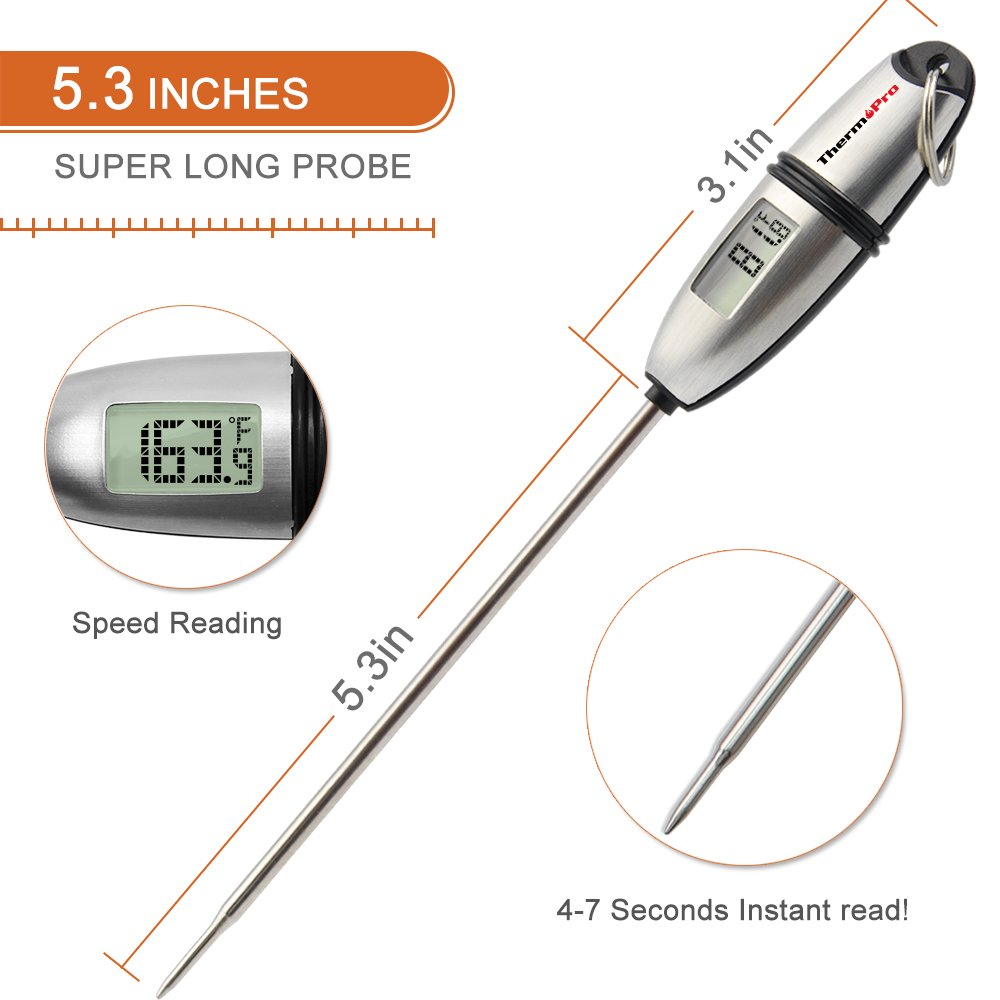thermopro tp02s instant read meat thermometer digital cooking food thermometer 739328492425 ebay. Black Bedroom Furniture Sets. Home Design Ideas