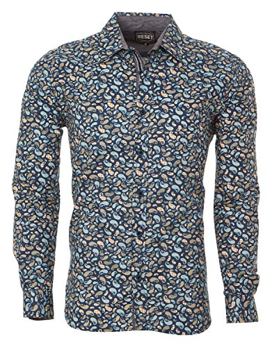 Printed Long Sleeve Woven Shirt (Men's Woven Long Sleeves Button Down Printed Dress Shirts)