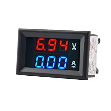 LED 3-Digital Display Voltage Voltmeter Panel DC 0-100V Volt Meter Tool Mini