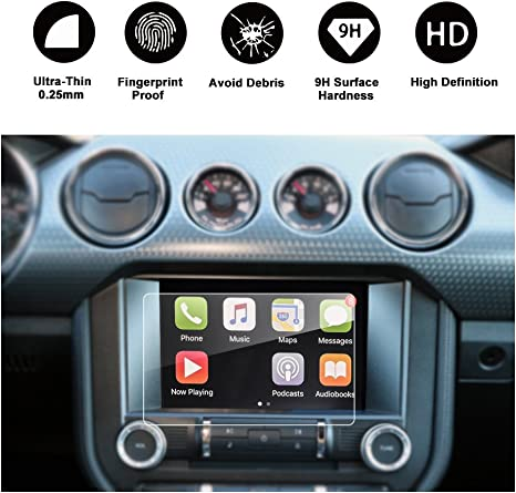 RUIYA Car Navigation Screen Protector,8-Inch In-Dash Screen Protector for Ford Mustang GT350 COUPE//HATCHBACK Anti-Fingerprint /& Anti-Scratch High Clarity