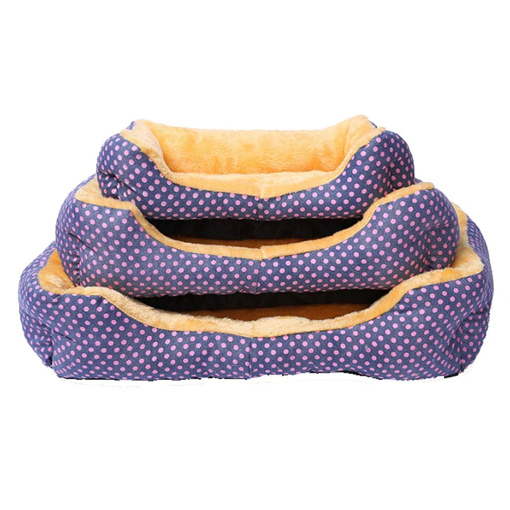 Purple Barry-L Dog Bed Cat Bed Two-piece Cloth Pet Pet Nest Autumn And Winter Warm Kennel Pet Mat Teddy Bomei Small And Medium Pet Nest Pet Bed (color   Purple)