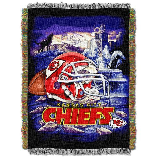 Northwest NFL Kansas City Chiefs Acrylic Tapestry Throw Blanket