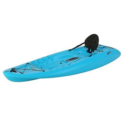 Recreational Kayak Sit On Top Kayaks For Kids Fishing Glacier Blue 8 Foot  Flatbottom Backrest 1 Person