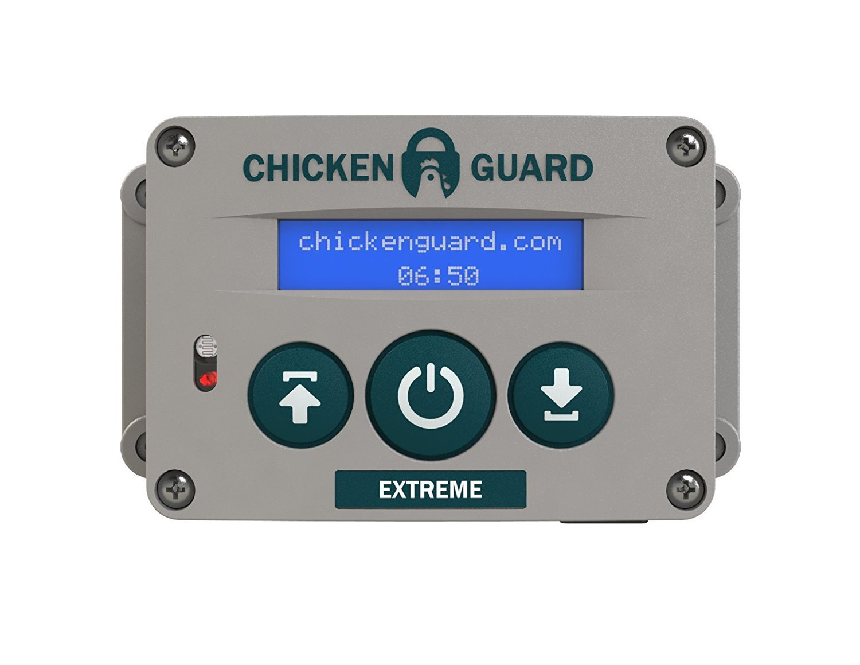 Extreme Automatic Chicken Coop Pop Door Opener Lifts up to 8 lbs, Timer/Light Sensor | Outdoor / Indoor Auto Door Opener, Chicken Coop Accessories by ChickenGuard by ChickenGuard