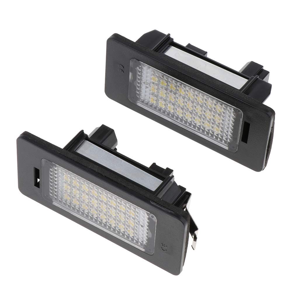 30mm pour BMW 1//3//5 E90 E70 X5 30 Almencla 2pcs Lampes de Plaque dimmatriculation LED en Taille de 75