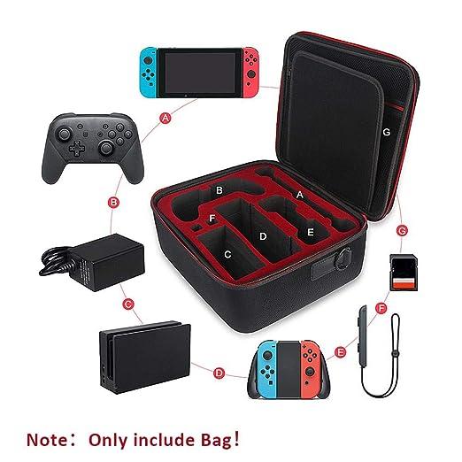 Xuanyang Bolsa de Viaje, Bolsa de Almacenamiento de Juegos Cubierta Dura de EVA Funda multifunción para Nintendo Switch Consola Accesorios: Amazon.es: Hogar