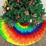 AHOOCUSTOM Merry Christmas Tree Skirt Red Colored