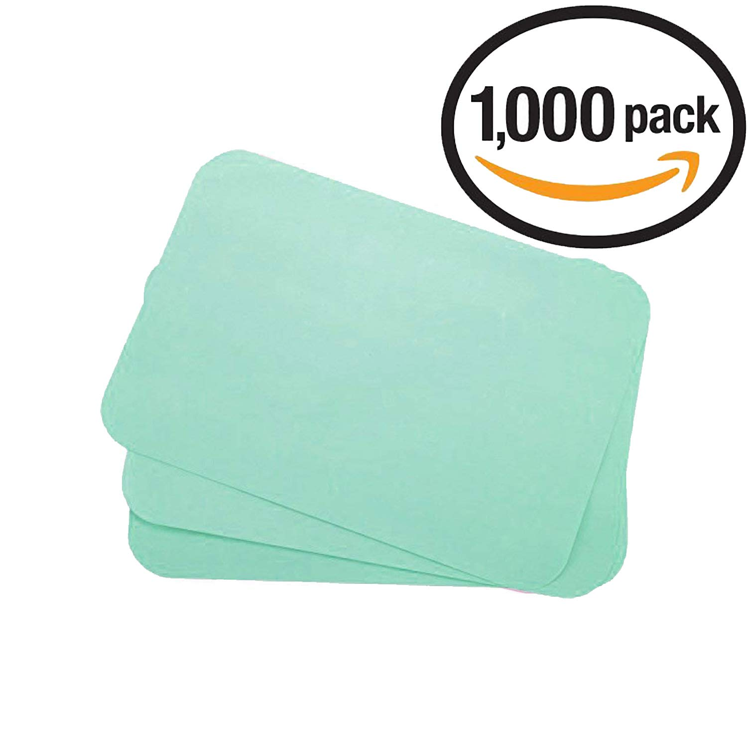 Dental Tray Covers Paper - Size B Tray 8.5''x12.25'' Premium Tray Paper Also Great for Beauty Tray, Pack of 1000, by Vivid (Green)