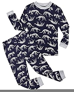 Boys Pajamas Dinosaur Little Kids Pjs Sets 100% Cotton Sleepwears Toddler Clothes