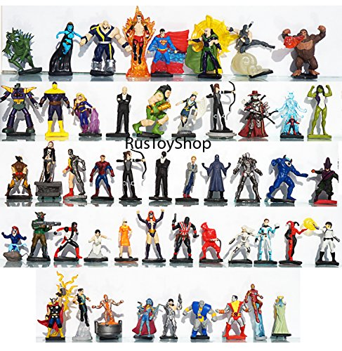 [RusToyShop] 10psc 3-5 cm random Avengers, Marvel, Spiderman, Hulk for boys Party Favor Toy Filled Easter mini figures actions - 90 Policy Day Return