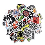 #7: Laptop Stickers [100 pcs], Breezypals Car Stickers Luggage Decal Graffiti Guitar Skateboard Vinyl Stickers for Laptop, Rock and Roll Music Band Stickers- No-Duplicate Sticker Pack